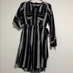 Black and white striped dress size XS